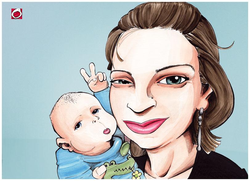 Mom - Karikatur vom foto von gezeichnet.com