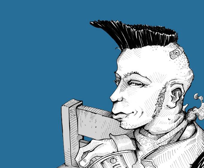 Karikatur vom Foto - Psychobilly